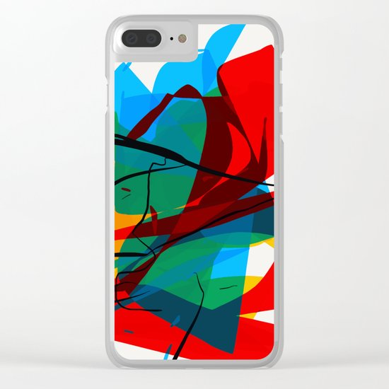 Abstract art made by Thimeo 19 months Clear iPhone Case