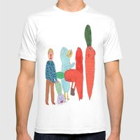Friends and the garden. Mens Fitted Tee White MEDIUM