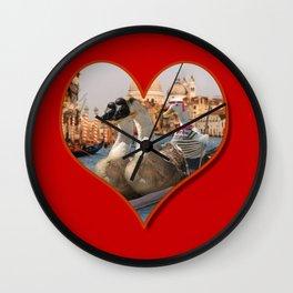 Geese on a Romantic Gondola Ride Wall Clock