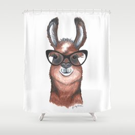 Hipster Llama Shower Curtain