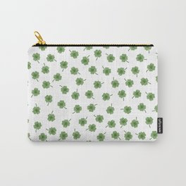 Light Green Clover Carry-All Pouch