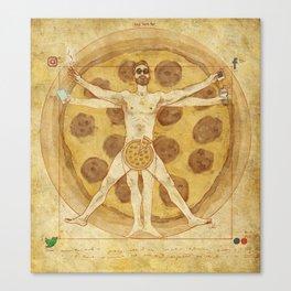 Modern Vitruvian Man Canvas Print