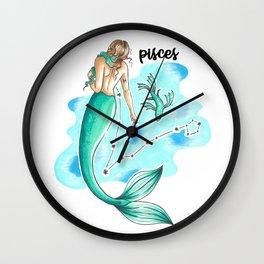 Pisces Mermaid Wall Clock