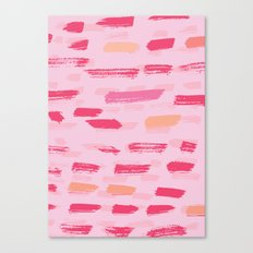 pink brush strokes Canvas Print