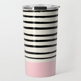 Millennial Pink x Stripes Travel Mug