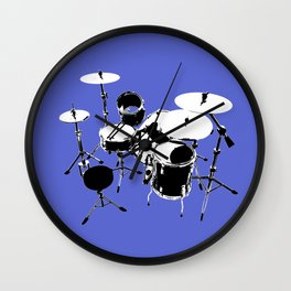 Drumkit Silhouette (backview) Wall Clock