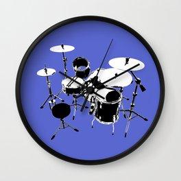 Drumkit Silhouette (backview) Wall Clock