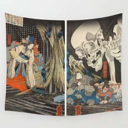Takiyasha the Witch and the Skeleton Spectre Wall Tapestry