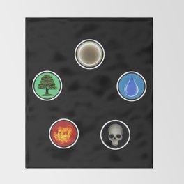 Realistic MTG Symbols Throw Blanket