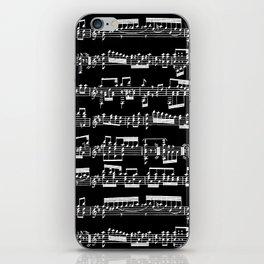 Sheet Music // Black iPhone Skin