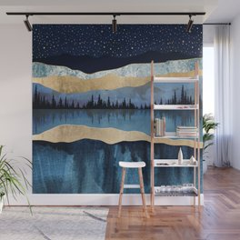 Midnight Lake Wall Mural