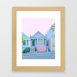 San Francisco Painted Lady House Framed Art Print