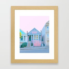San Francisco Painted Lady Victorian House Framed Art Print