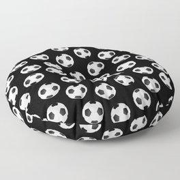 Soccer Ball Pattern-Black Floor Pillow