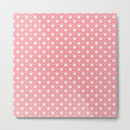 Princess pink with Tiaras. Metal Print