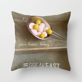 For the Love of Breakfast Throw Pillow