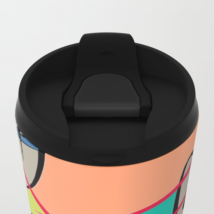 COLOR SPOON Metal Travel Mug