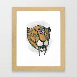 Derp-Toothed Tiger Framed Art Print