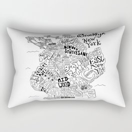Brooklyn Map Rectangular Pillow