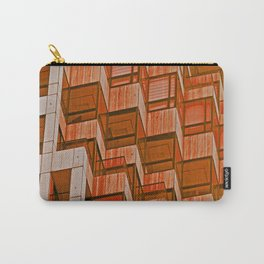 Architectural Abstract in Red Carry-All Pouch
