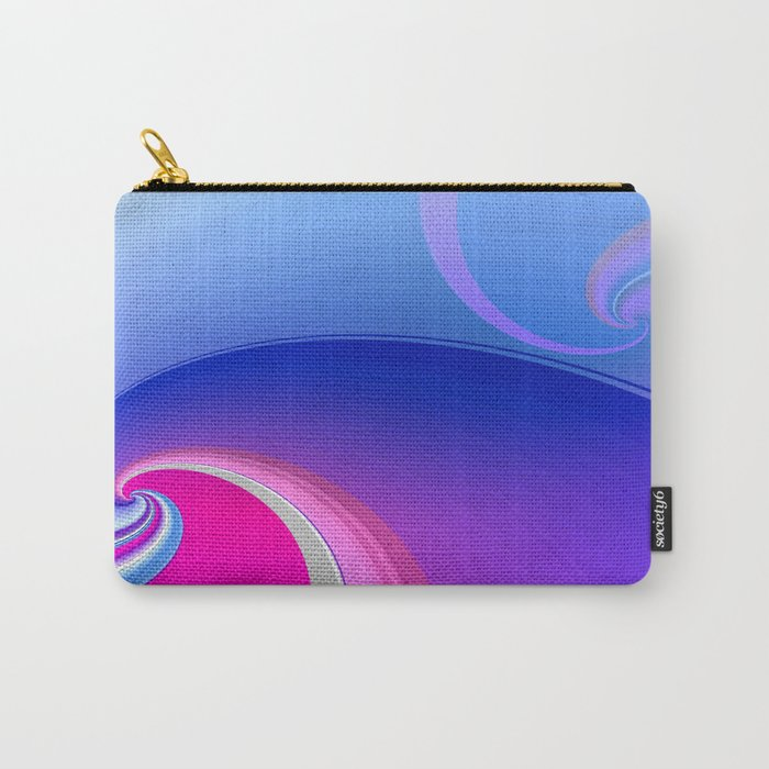 Ride the Wave (purple) Carry-All Pouch