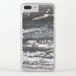 Dark marble Clear iPhone Case