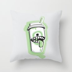 Latte Ghost Throw Pillow