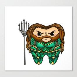 Aqua Man Tooth Canvas Print