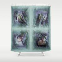 bond Shower Curtains featuring Family Bond by Artist TLynn Brentnall