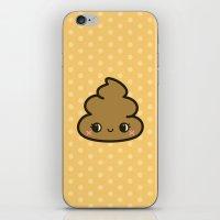 poop iPhone & iPod Skins featuring Cutey poop by Holly