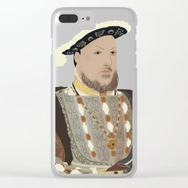 Henry VIII of England - transparent background Clear iPhone Case