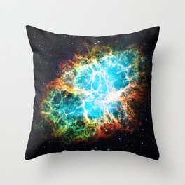 Crab Nebula Throw Pillow