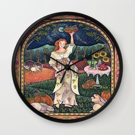 Wine Harvest Maiden Wall Clock