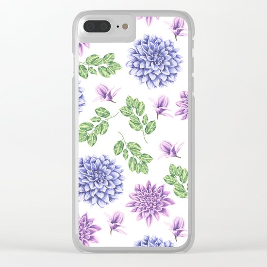 Lavender Garden Clear iPhone Case