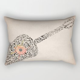 Guitar Notes Rectangular Pillow