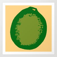 lime Art Prints featuring lime by D.J.D