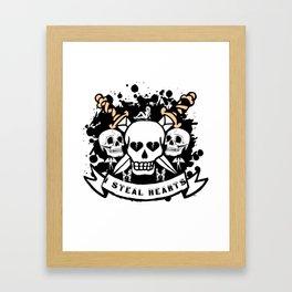 I Steal Hearts Framed Art Print