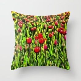 Forever Tulips Throw Pillow