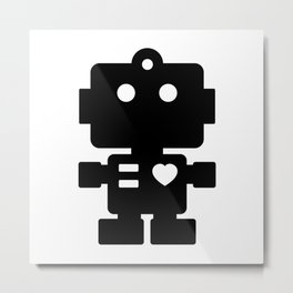 Cute Robot Metal Print