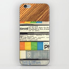VHS & Wooden Wall iPhone Skin