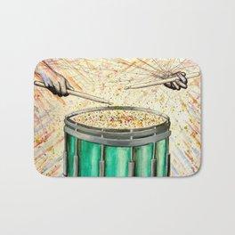 Snare Drum Watercolor Bath Mat