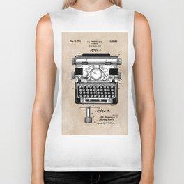 patent art typewriter Biker Tank