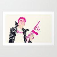 boneface Art Prints featuring Strummer by boneface
