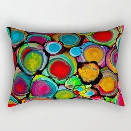 Conscious Overlap (Alcohol Inks Series 03) Rectangular Pillow