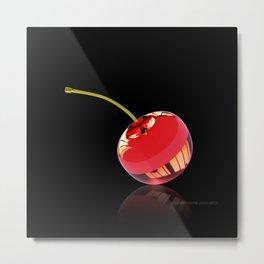 Red Glass Cherry Metal Print