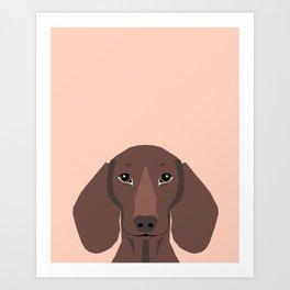 Remy - Daschund hipster dog, doxie, weiner dog, wiener dog,  Art Print