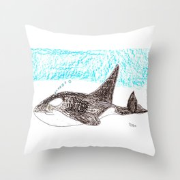 Orca Baby Throw Pillow