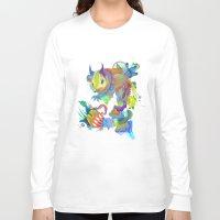 dahlia Long Sleeve T-shirts featuring Locus Dahlia by Archan Nair