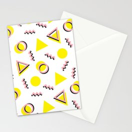 Memphis pattern 65 Stationery Cards