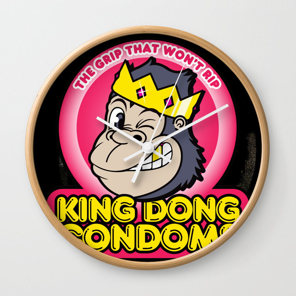King Dong Condoms Wall Clock by Buyproduct CLK8441822